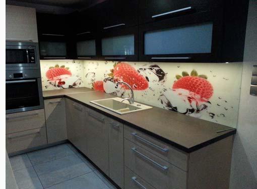 Foto op glas in de keuken