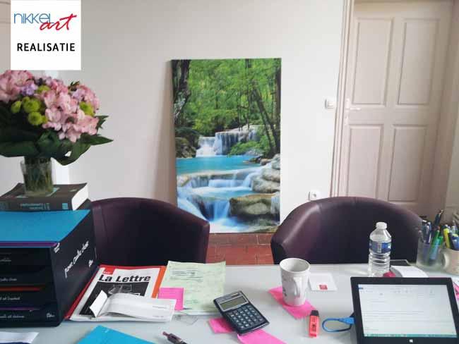 canvas schilderij voor kantoor