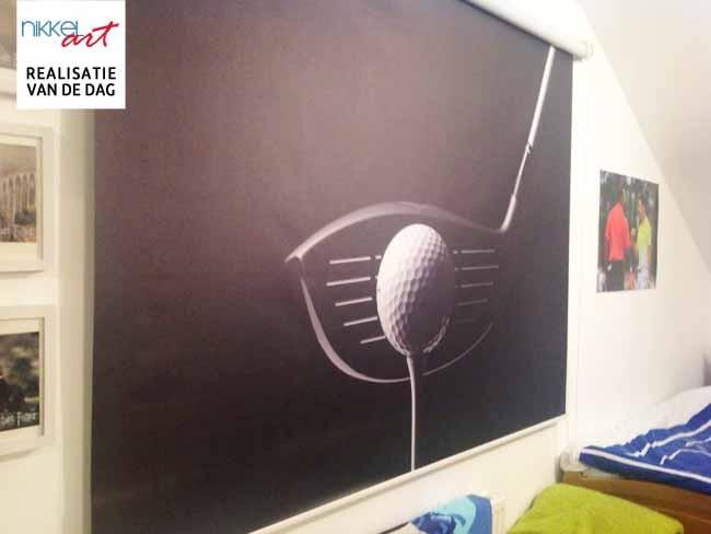 Fotorolgordijnen golf