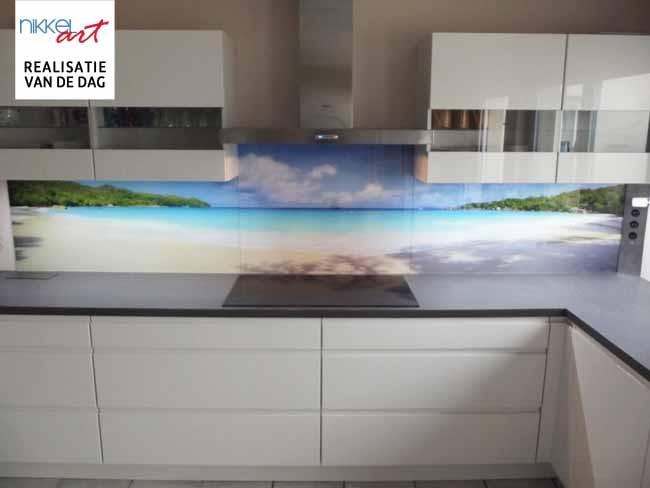 Keuken foto achterwand strand