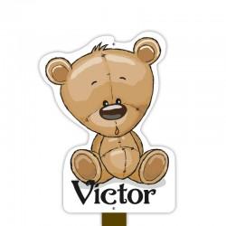 Geboortebord tuin jongen | Teddybeer