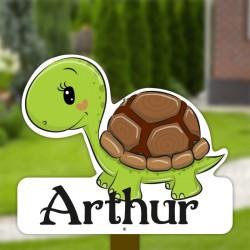 Geboortebord tuin jongen   Schildpad