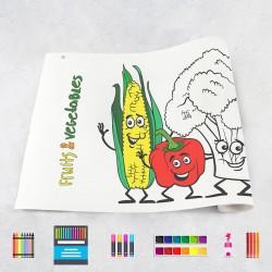 Tekenrol groenten & fruit
