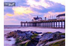 Pier in southworl in Verenigd Koninkrijk