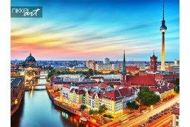 Luchtfoto van de skyline van de Berlijn