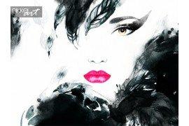 Verf aquarel kunst mode illustratie