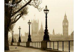 Grote Ben en Houses of Parliament London in mist