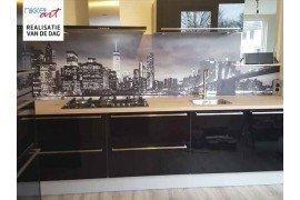 Aluminium keuken foto achterwand New York