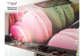 Fotobehang Macarons Parisiens voor je moderne keuken