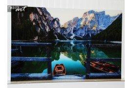 Aluminium schilderij met een prachtig uitzicht op de bergen