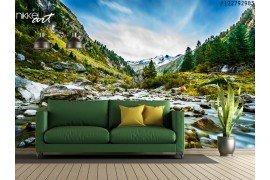 Fotobehang Bos rivier