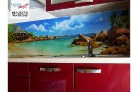 Wat is een keuken foto achterwand?