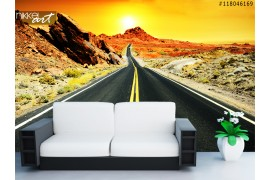 Fotobehang Route 66