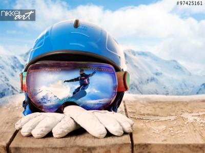 Kleurrijke skibril