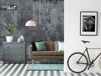 Industrieel en trendy: fotobehang met betonlook