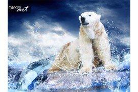 Ijsbeer op ijsberg