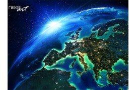 Terrein dat in Europa de nacht