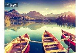 Prachtige landschap met lake en bergen