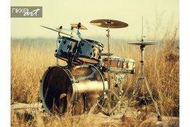 Set trommel op frisse lucht