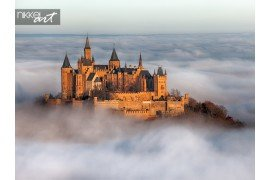 Een fotografie van de Duitse kasteel hohenzollern
