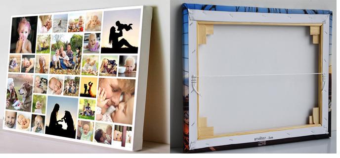 Ophangsysteem voor een foto op canvas