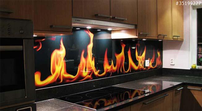 KPrinted kitchen splashbacks