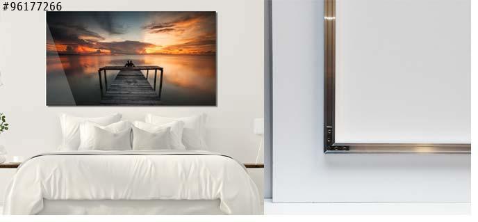 foto op plexiglas Aluminium frame aan de achterkant
