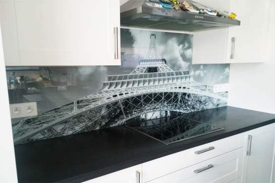Keuken foto achterwand realisatie