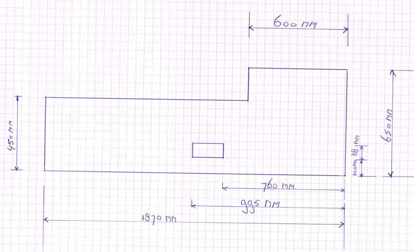 Instructions de mesure pour Crédence de cuisine