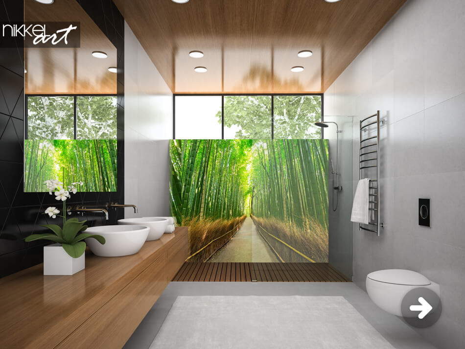 Bathroom Splashback Bamboo