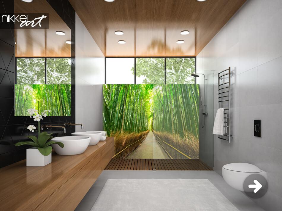 Badkamer Achterwand Bamboe
