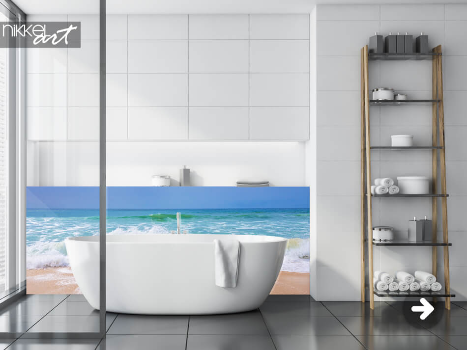 Badkamer Achterwand Zee