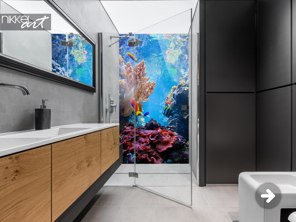 Bathroom Splashback Coral Reef