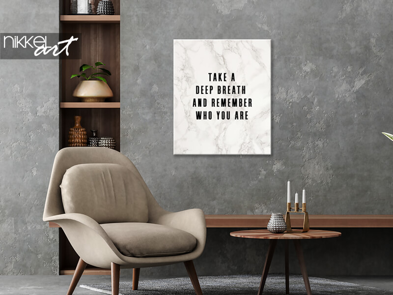 Inspirerende Quote op Canvas