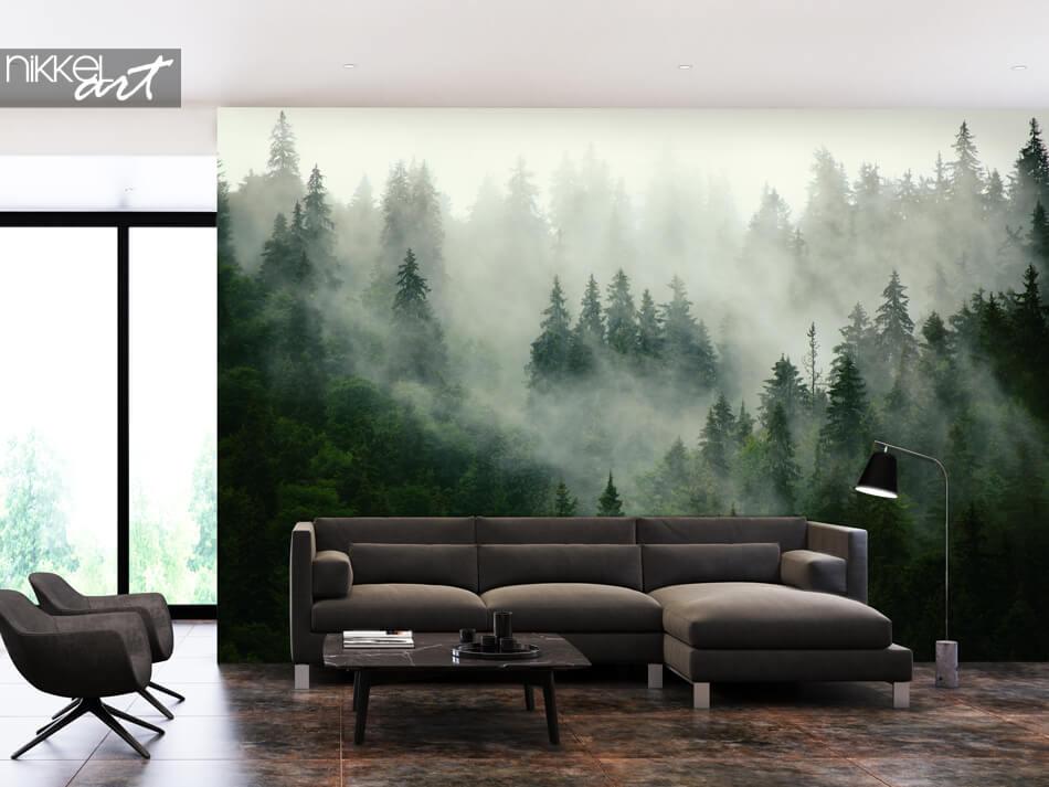 Wall Murals Misty Forest
