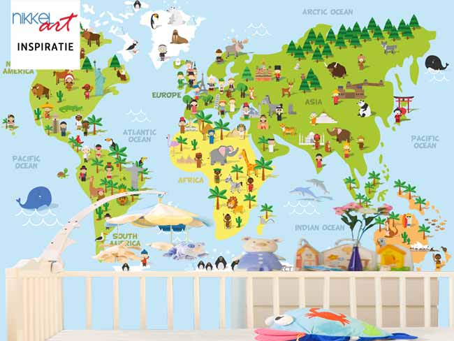 Fotobehang Wereldkaart voor Kinderen
