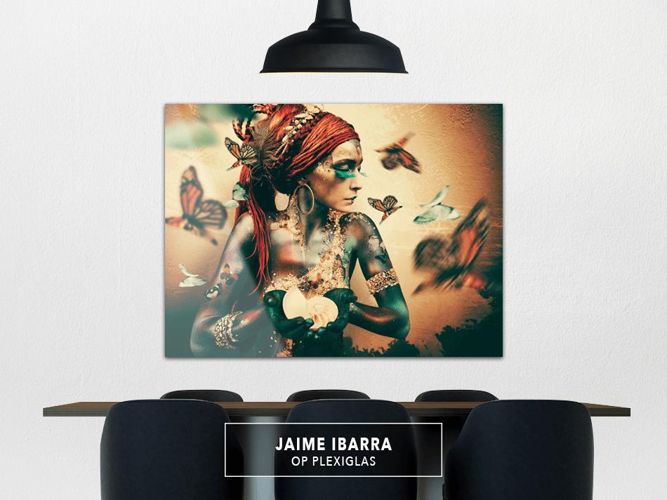 Jaime Ibarra op Plexiglas