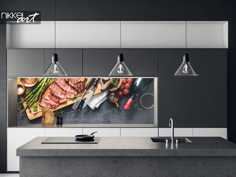 Glass Kitchen Splashback Cooking