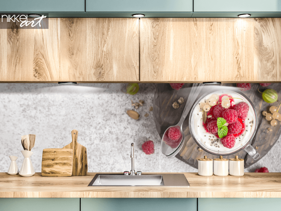 Glass Kitchen Splashback Dessert