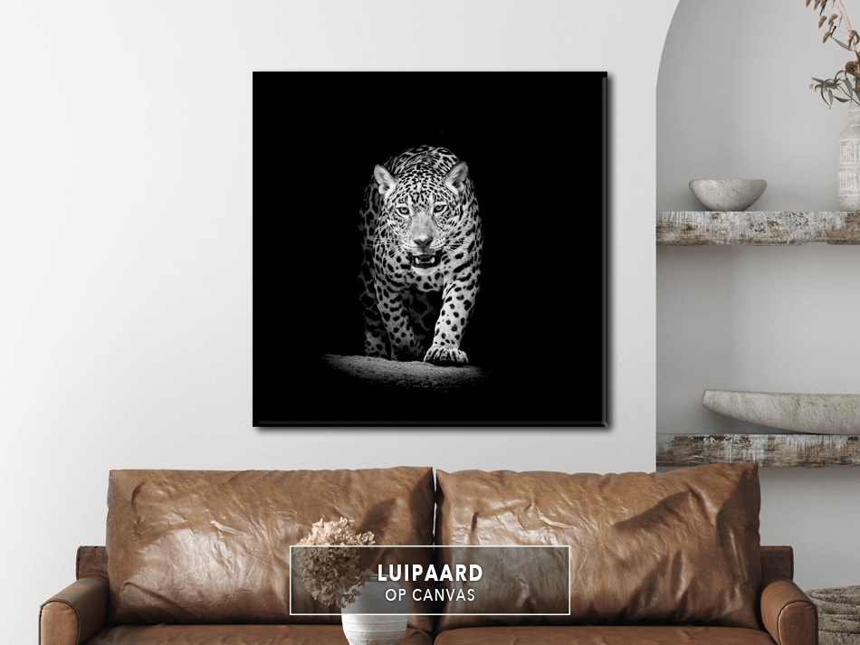 Luipaard op Canvas
