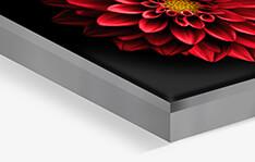 Photo sur cadre textile