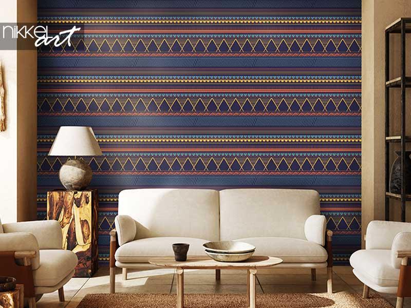 Behang Trendy tribale motieven naadloze patroon met abstracte geometrische