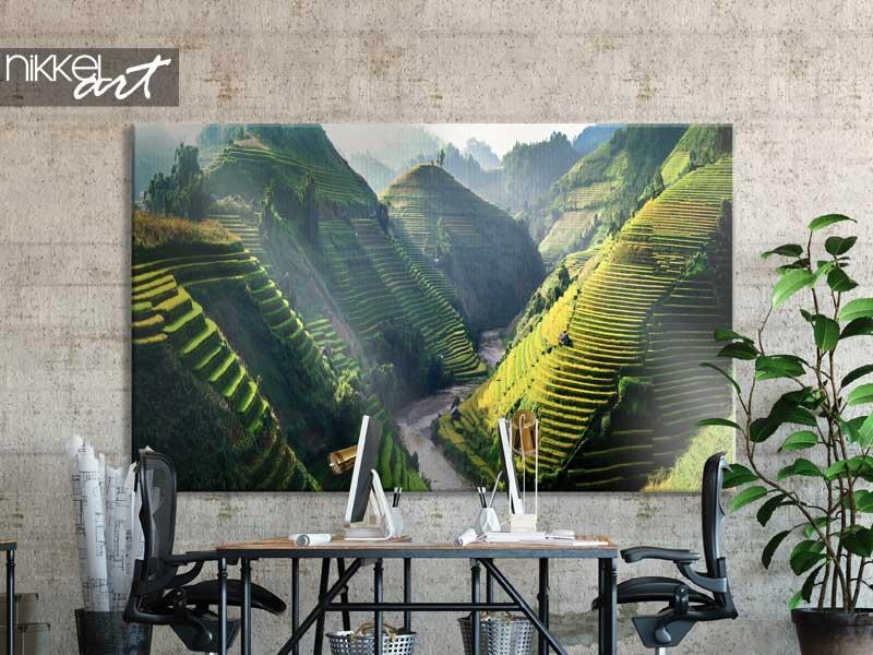 Foto op Canvas Rijstvelden op terrassen in het noordwesten van Vietnam