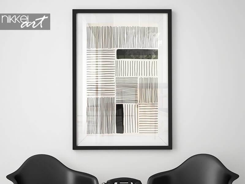 Ingelijste posters trendy abstracte minimalistische compositie