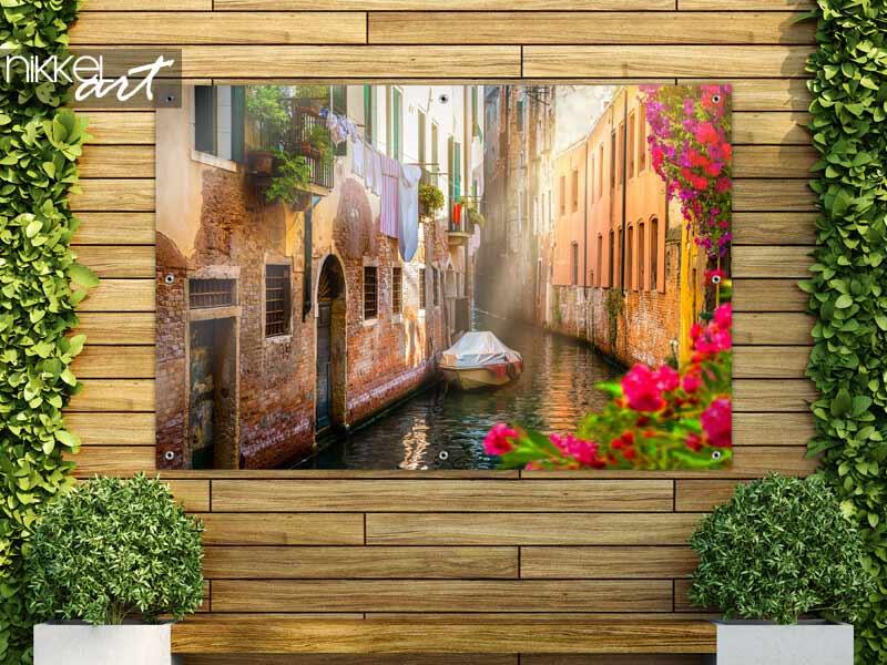 Tuinposter Bloemen in Venetië