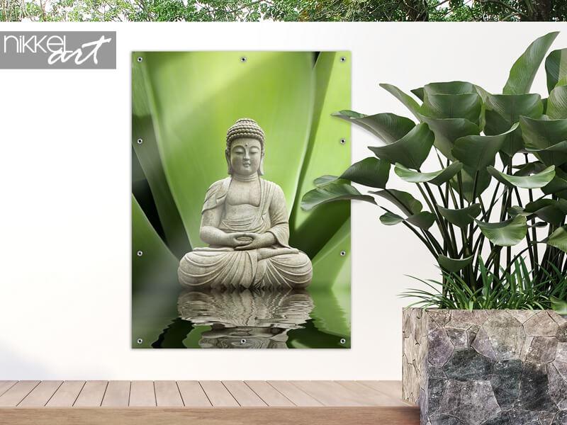 Tuinposter Buddha and Serenity