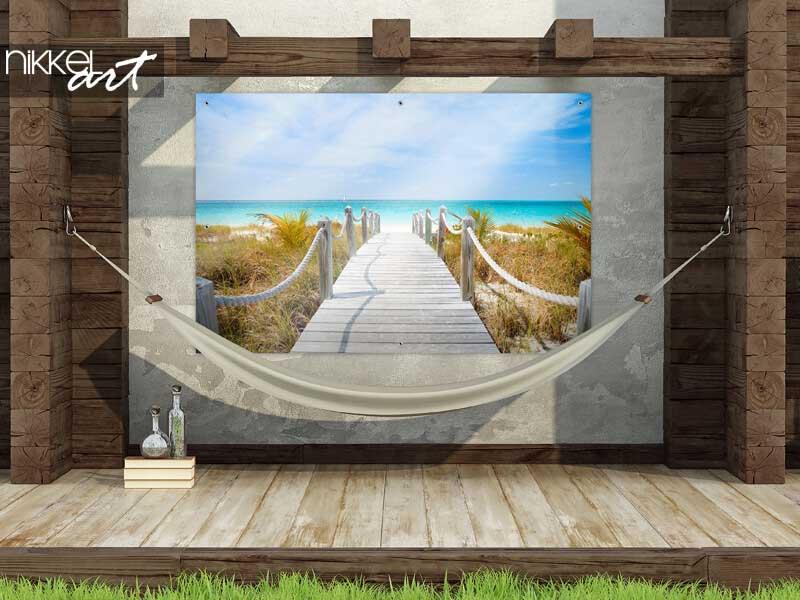Tuinposter Caribisch strand