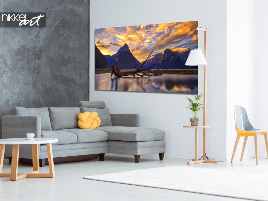 Een prachtig natuurbeeld in huis een foto op aluminium for Schilderij op aluminium