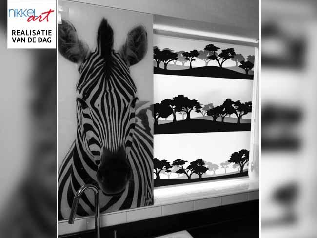 Fotorolgordijn zebra