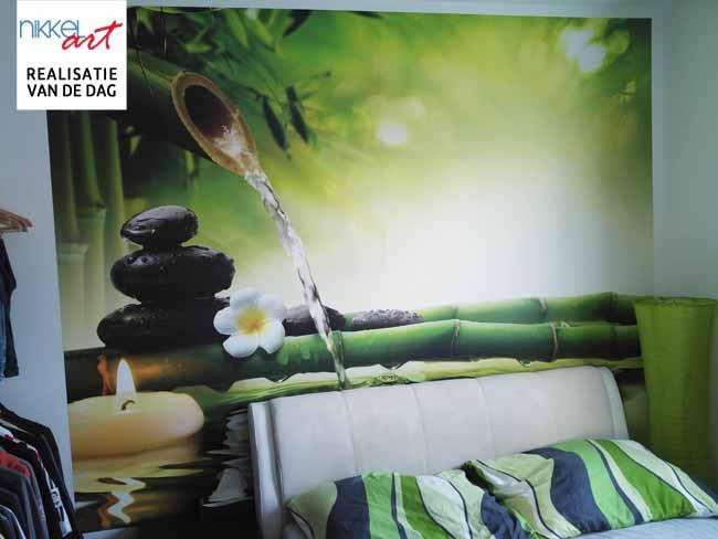 Fotobehang in slaapkamer